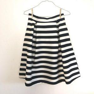 Haute Monde Striped Full Skirt Sz Large